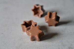 Pralinen-Sternhalbschalen Vollmilch  56 Stück