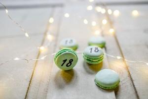 Macarons personalisiert grün, Ø 3,5 cm