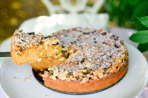 Ausgewählte Zutaten für einen Knusper-Kürbis-Kuchen