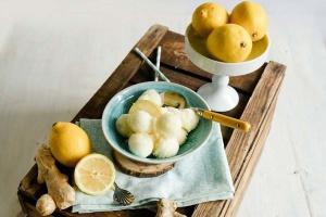 Eispulver Zitrone Ingwer, zuckerreduziert 140 g
