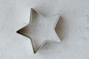 Ausstecher Stern, 5 Zacken, Edelstahl, 7 cm