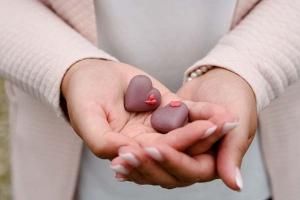 Gießform Herzen für 12 Pralinen