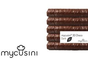 Lebensmitteldrucker Nachfüllpack, Fettglasur Kakao, 5 Stk.
