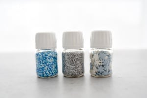 Zuckerperlen Set, 3-tlg, eisblau, 78-g-Dosen