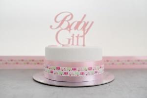 Tortenband -Baby-, rosa, lebensmittelecht, Breite 4,5 cm