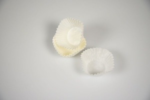 Pralinenkapseln weiß / 1,6 x 2,4 cm / 300 Stück