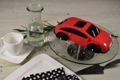 Kuchenform Auto 3D aus Aluminium, 27x14x7