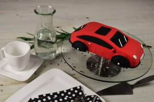Kuchenform Auto 3D aus Aluminium, 27 x 14 x 7 cm