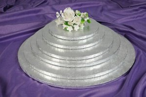 Cake Board / Tortenplatte, Ø 35cm, 1,2cm silberfarben