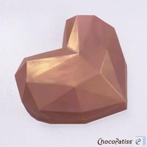 Schokoladenform Diamantherz, L, 13,5x15x4 cm