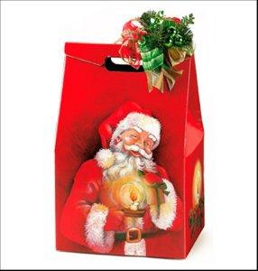 Geschenk-Karton -Weihnachtsmann- rot, 28 x 20 x 41 cm