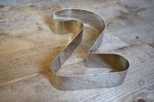 Zahlen-Backrahmen Ziffer -2-  Edelstahl