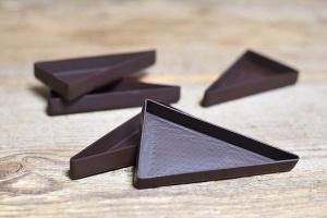 Dessertschalen Schokolade Dreieck groß Zartbitter, 20 Stück