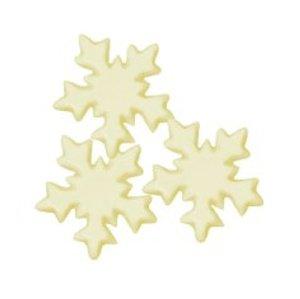 Schoko-Aufleger Eiskristall weiße Schokolade, Ø 3cm, 40 Stck