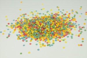 Lustiges Konfetti aus Zucker, 3 mm, 100-g-Dose