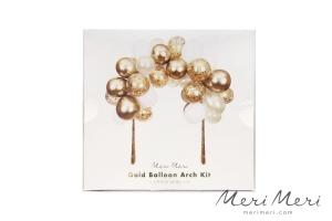 Meri Meri Girlande Ballonbogen, gold/weiß, ca. 200x200x80 cm