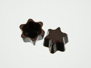 Pralinen-Sternhalbschalen Zartbitter  56 Stück