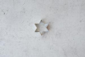 Ausstecher Stern mini, Weißblech, 4 cm