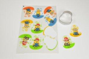 Minions, Zucker-Aufleger, 10 Stück, 6 x 7,5 cm   -   Angebot