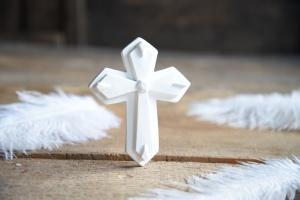 Kreuz aus Zucker, ca. 10 cm zur Kommunion oder Konfirmation