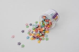 Zuckerdekor / Streudekor Sterne, bunt, 50 g