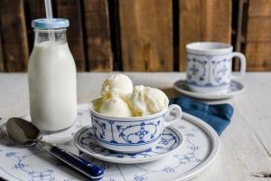 Eispulver Fior di Latte zuckerreduziert 180 g