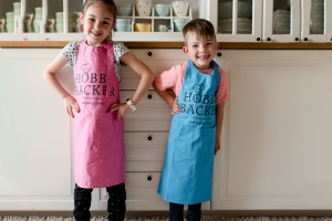 Hobbybäcker-Schürze Kinderschürze, blau