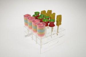 Push Up und Cake Pops Kombi-Ständer transparent