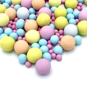 Schokokugeln Bubble Gum, bunt, 135 g