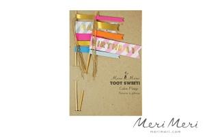 Meri Meri Cake Topper Happy Birthday, 2 Stk., 25x12,5 cm