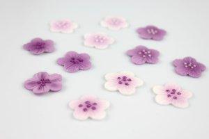 Blumen-Aufleger lila, 12 Stück