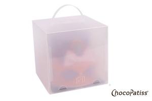 Tortenbox faltbar matt 26x26x26 cm