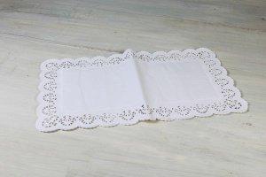 Tortenspitzen rechteckig 47 x 26 cm weiß, 12 Stück