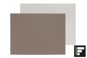 Platzset, Kunstleder, taupe/weiss, 40x30 cm