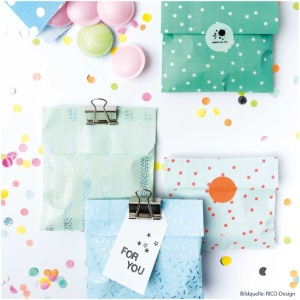 Geschenktüten Mix, Papier, blau/grün, 20 Stk., 12x18,5 cm