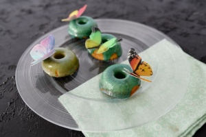 Schmetterling 3D Oblaten-Aufleger, 12 Stck. bunt sortiert