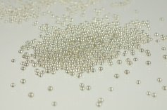 Silberperlen Dekor, 4 mm, 100-g-Dose