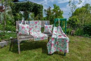 Einkaufstasche, Rose, 100% Baumwolle, 40x40x8 cm