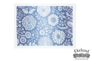 Tischset, Blumen blau, 100 % Bio Baumwolle, 35x48 cm
