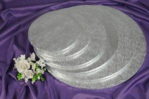 Cake Board / Tortenplatte, Ø 20cm, 1,2 cm silberfarben