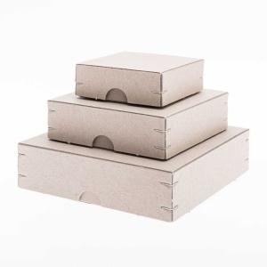 Aufbewahrungsbox Quadrat, Recyclingkarton, 7,5x7,5x2,5 cm