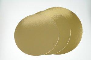 Goldfarbene Tortenpappscheiben Ø 32 cm, 5 Stück