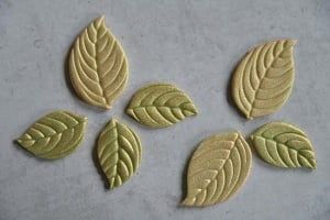 Marzipanblätter antik 16 klein + 9 groß
