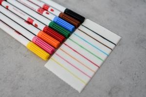 Lebensmittelfaserstifte - farbig sortiert / 8 Stck.