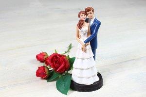 Brautpaar innige Umarmung, ca. 18 cm
