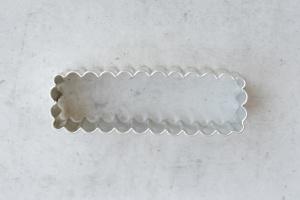 Ausstecher Stangerl gewellt, Edelstahl, 7,2 x 2,3 cm