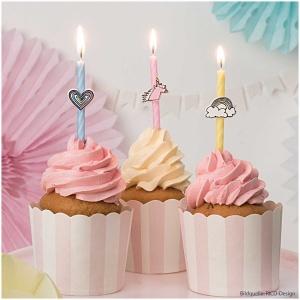Cupcake Förmchen, rosa/weiß, 12 Stk., Ø 6 cm, Höhe 5,5 cm