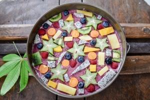 Ausgewählte Zutaten für Schnellen Obstkuchen