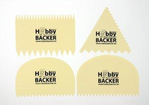 Kammschaber-Set zackig, 4-teilig