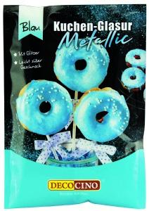 Kuchenglasur, metallic blau, 65 g